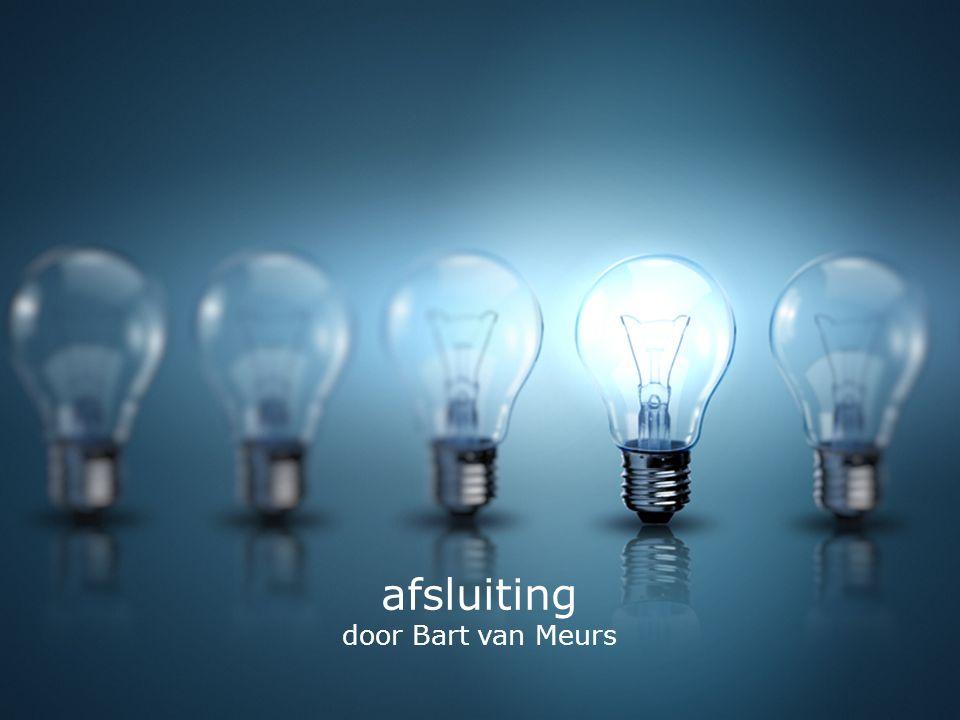 afsluiting door Bart van Meurs