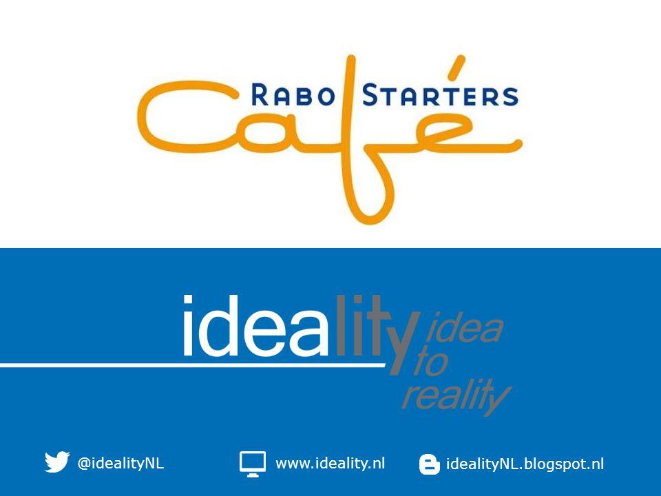www.ideality.nlidealityNL.blogspot.nl@idealityNL