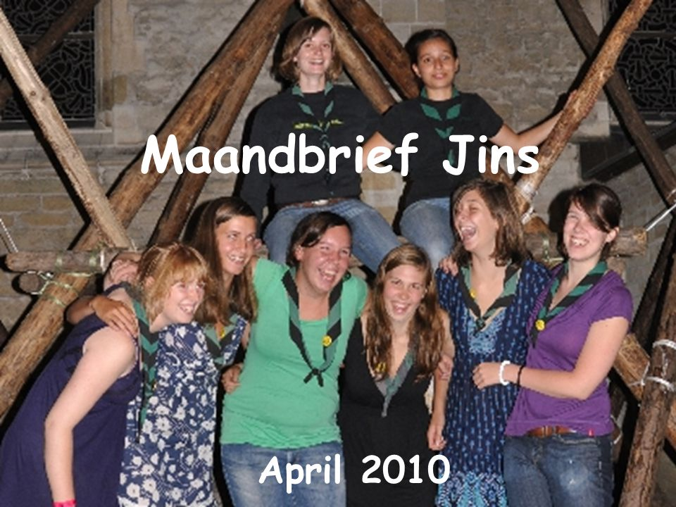 Maandbrief Jins April 2010