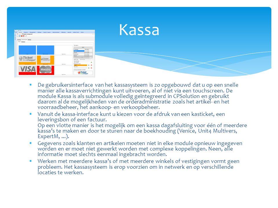 Hardware  De kassa software is hardware onafhankelijk en kan zowel op een Microsoft computer, met touchscreen of op een design Apple iMac gebruikt worden.