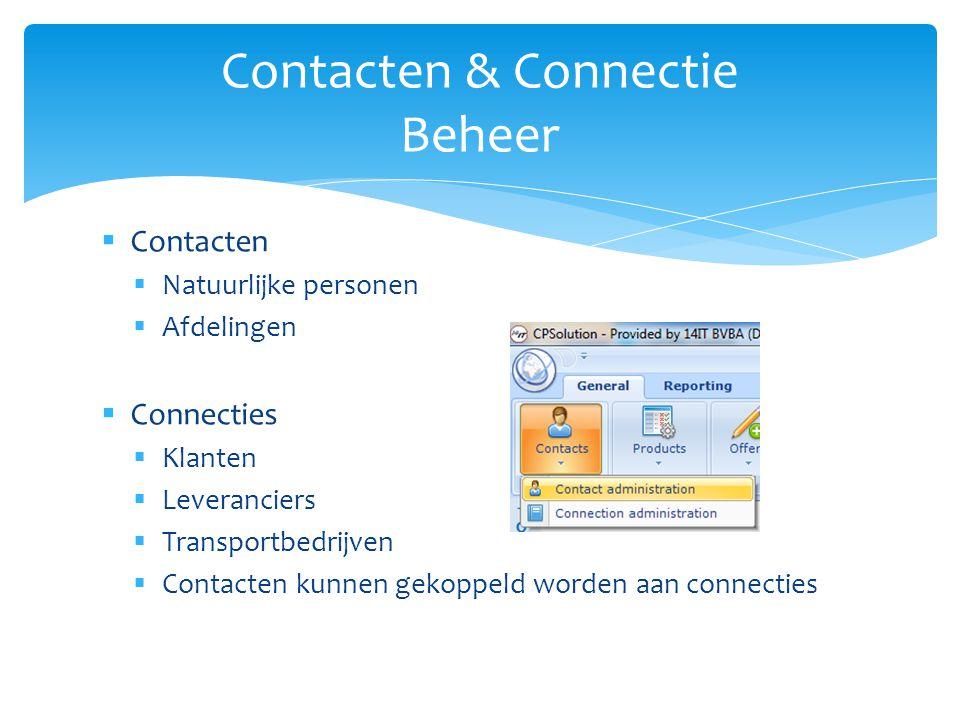  Voorbeeld Contacten & Connectie Beheer