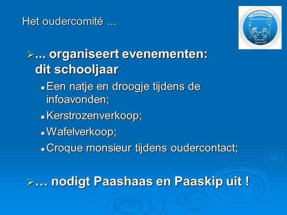 ... organiseert evenementen: dit schooljaar  Een natje en droogje tijdens de infoavonden;  Kerstrozenverkoop;  Wafelverkoop;  Croque monsieur tij