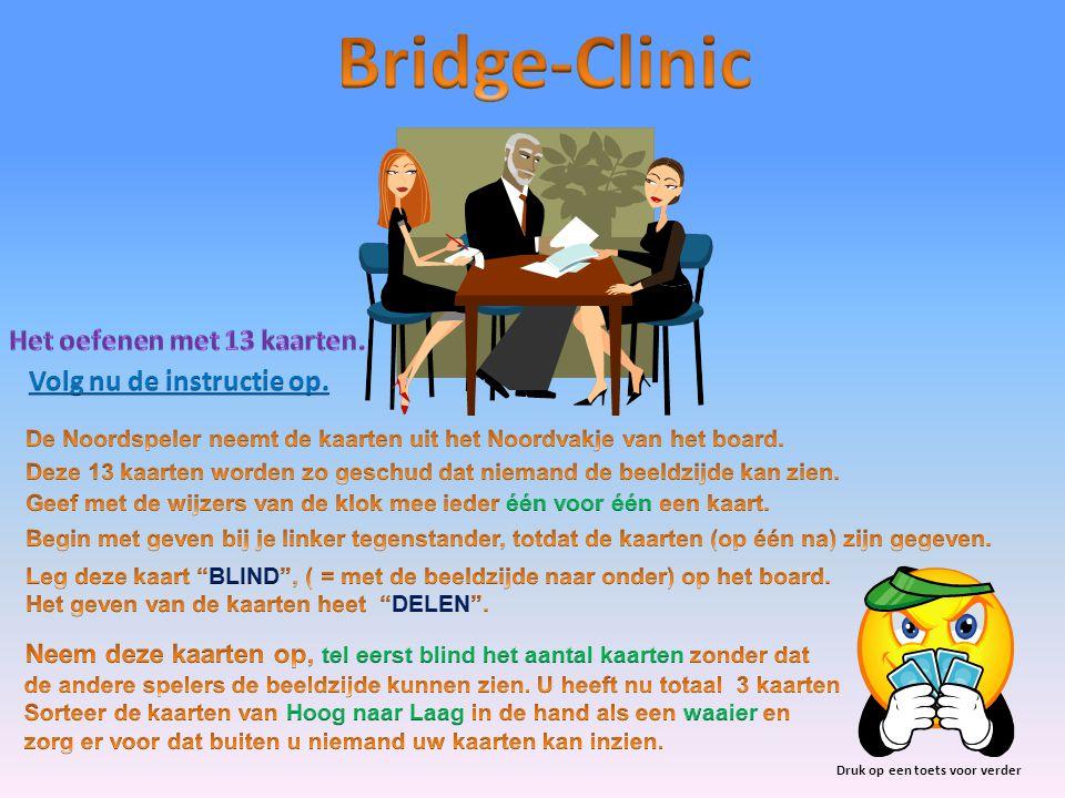 Einde wim.sam@bridgedocent.nl Voor informatie kunt u mij bellen op telefoonnummer: 0229-264487