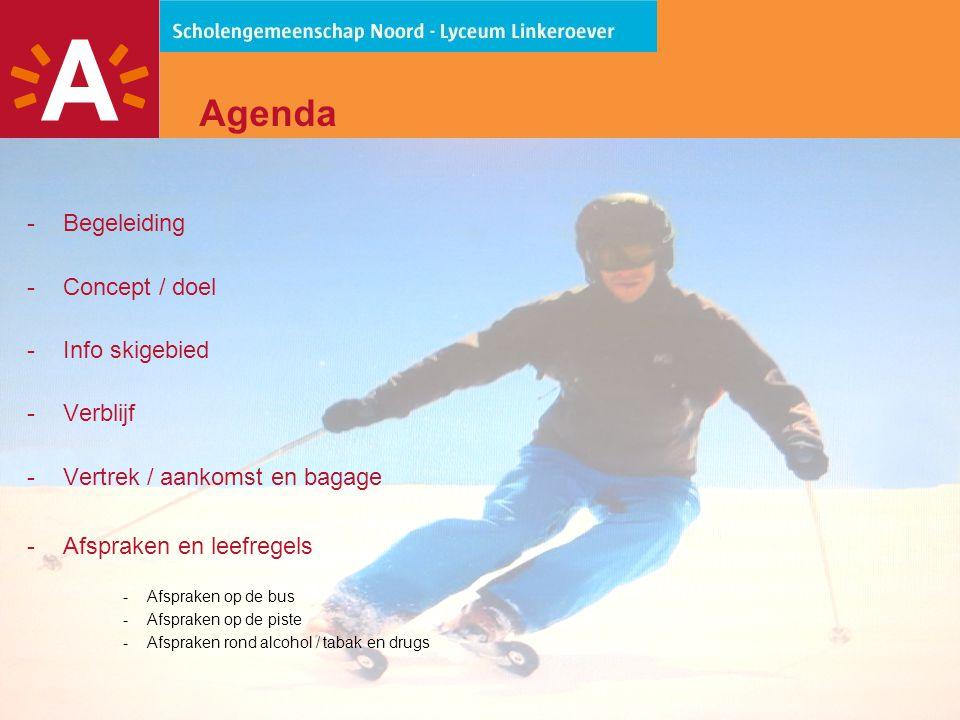 3 Begeleiding  Leerkrachten Lyceum Linkeroever: -Matthias De Ridder -Sten Dielen -Niels Loos -Ivo Van Wichelen  Aangevuld met ondersteuning van ESF (Ecole du Ski Français)