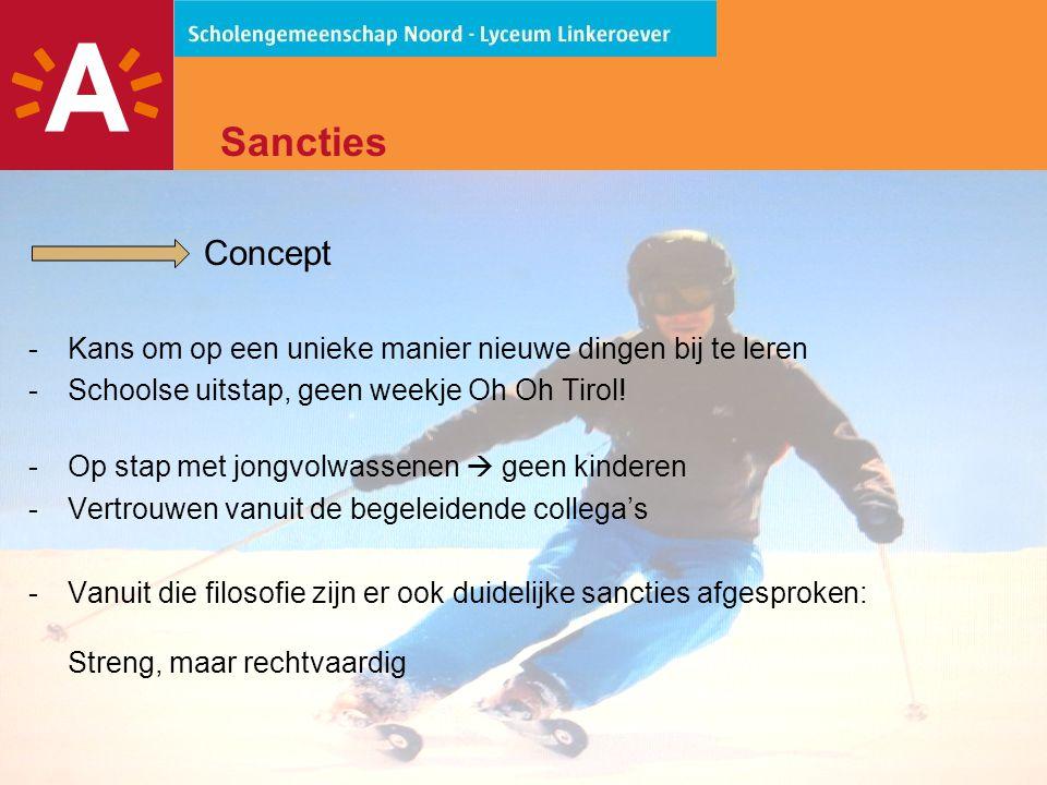 21 Sancties Concept -Kans om op een unieke manier nieuwe dingen bij te leren -Schoolse uitstap, geen weekje Oh Oh Tirol.