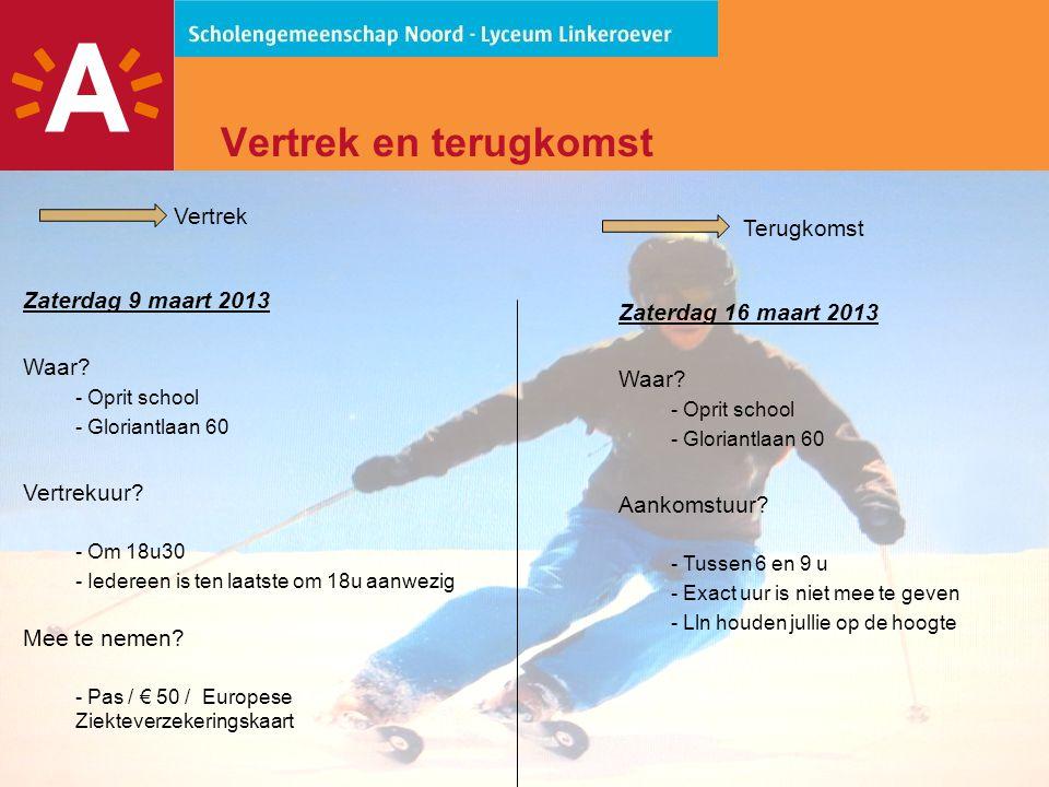 9 Bagage -Maximaal 1 koffer / tas per persoon -Aparte zak voor eigen skigerief is toegelaten  Groepsreis  bepaalde formule  Kunnen geen korting toestaan op eigen skigerief  Eigen materiaal mag, maar op eigen risico
