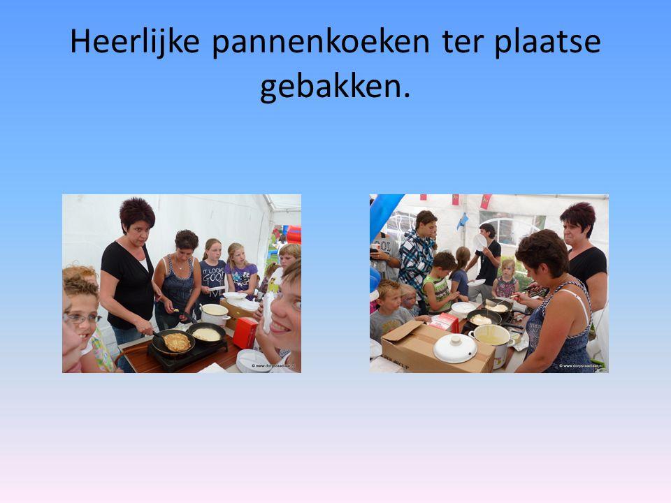 Heerlijke pannenkoeken ter plaatse gebakken.