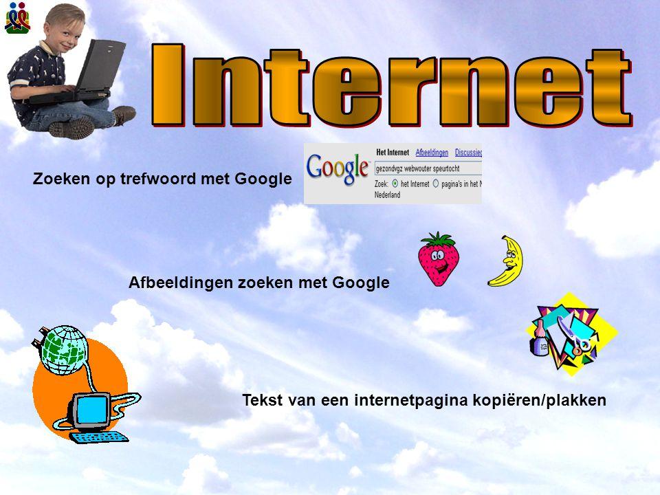 Zoeken op trefwoord met Google Afbeeldingen zoeken met Google Tekst van een internetpagina kopiëren/plakken