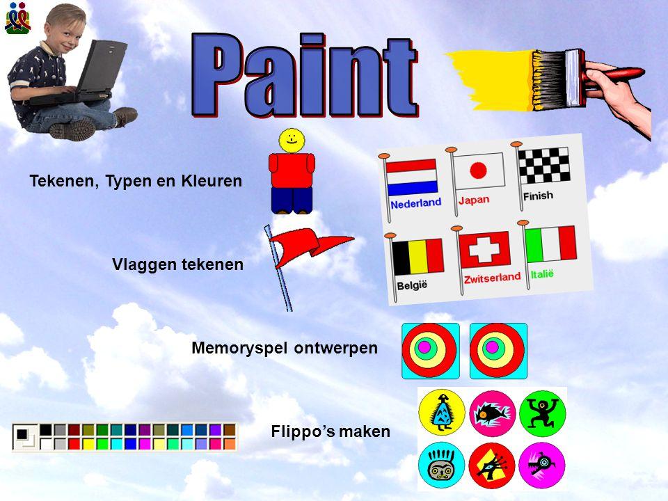 Tekenen, Typen en Kleuren Vlaggen tekenen Memoryspel ontwerpen Flippo's maken