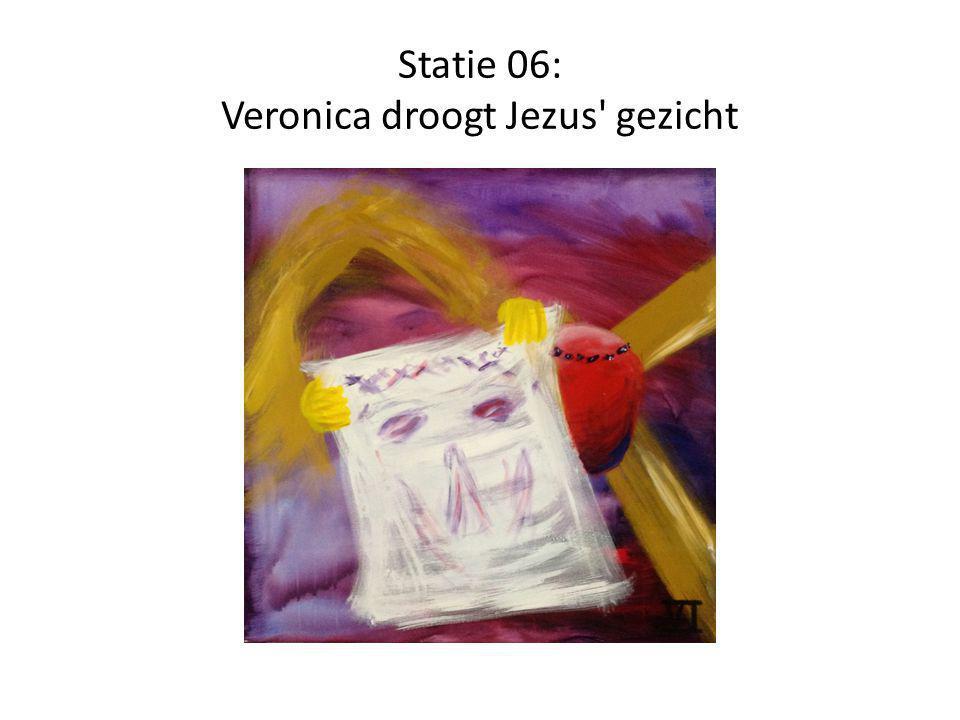 Statie 06: Veronica droogt Jezus' gezicht
