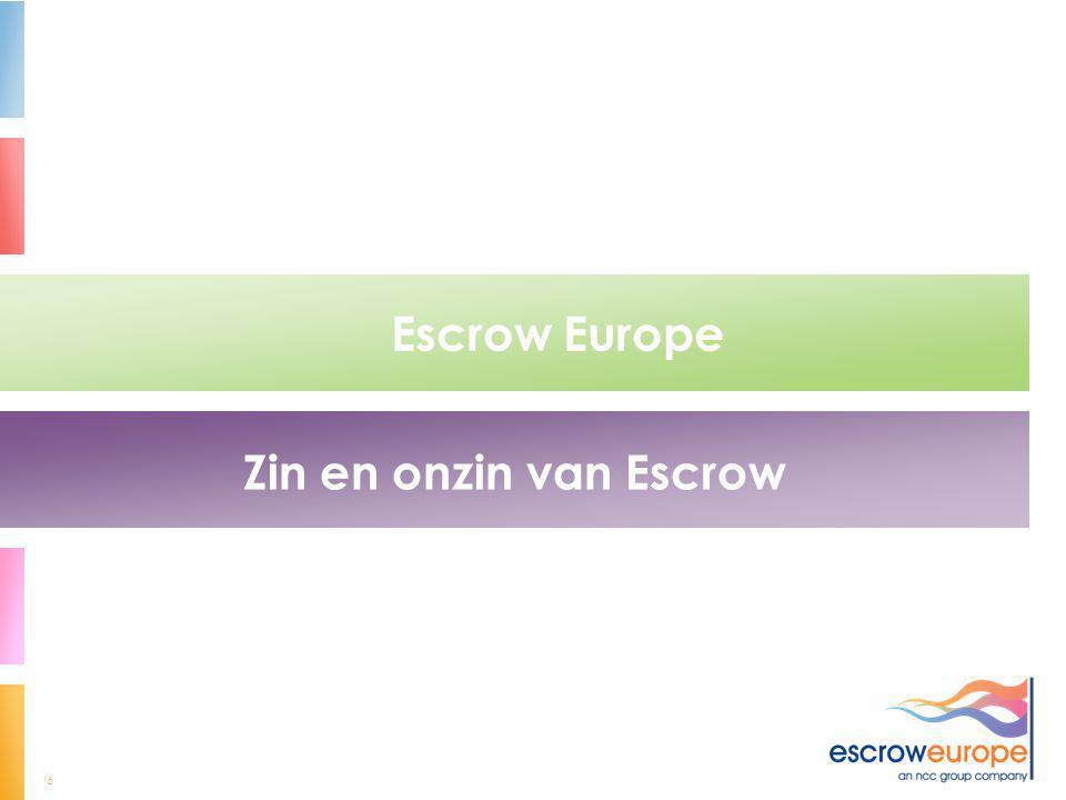 6 Escrow Europe Zin en onzin van Escrow