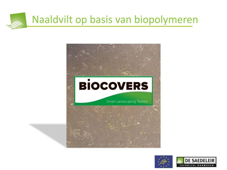 Naaldvilt op basis van biopolymeren