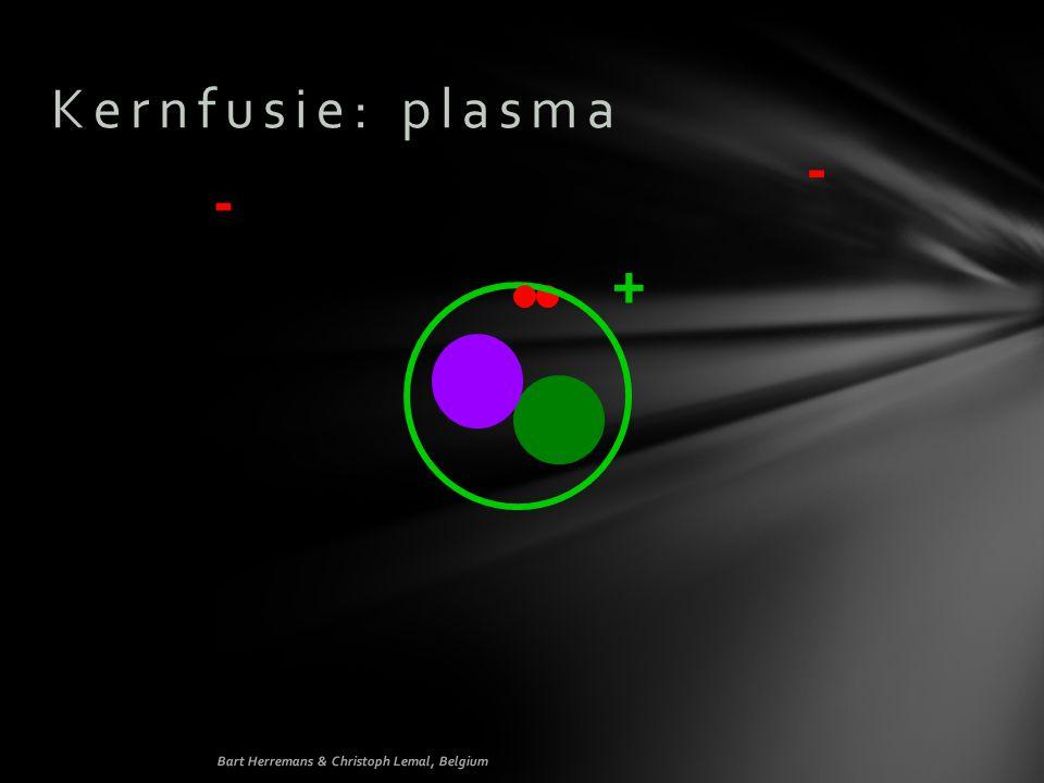 Kernfusie: plasma - - + Bart Herremans & Christoph Lemal, Belgium