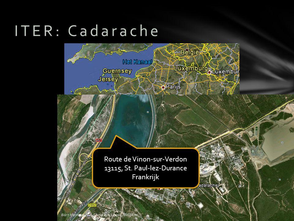 ITER: Cadarache Route de Vinon-sur-Verdon 13115, St. Paul-lez-Durance Frankrijk Bart Herremans & Christoph Lemal, Belgium