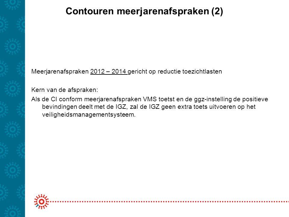 Contouren meerjarenafspraken (2) Meerjarenafspraken 2012 – 2014 gericht op reductie toezichtlasten Kern van de afspraken: Als de CI conform meerjarena