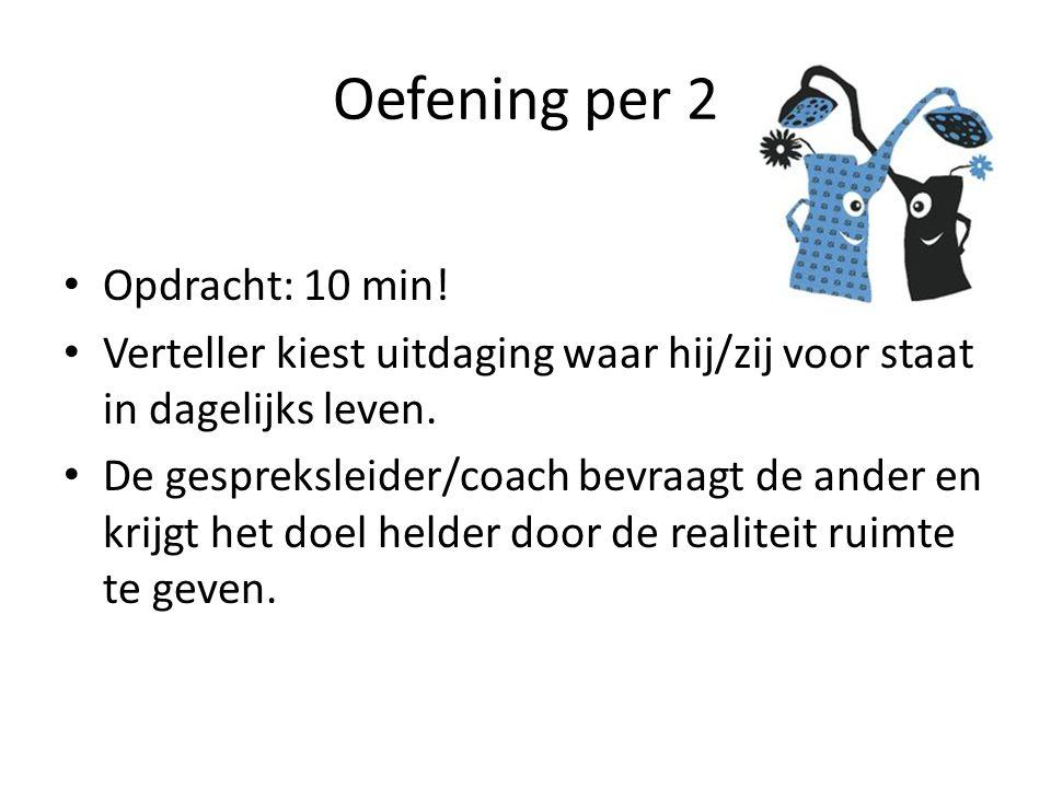 Oefening per 2 • Opdracht: 10 min.