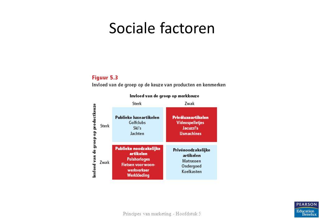 Sociale factoren 12 Principes van marketing - Hoofdstuk 5