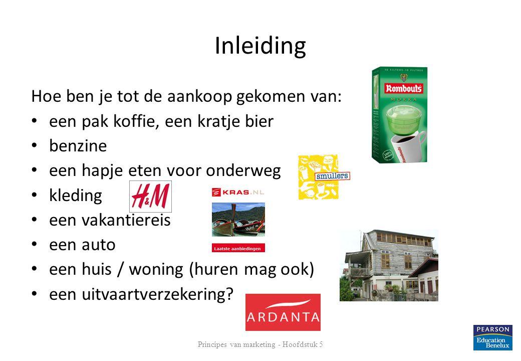 Inleiding Hoe ben je tot de aankoop gekomen van: • een pak koffie, een kratje bier • benzine • een hapje eten voor onderweg • kleding • een vakantiere