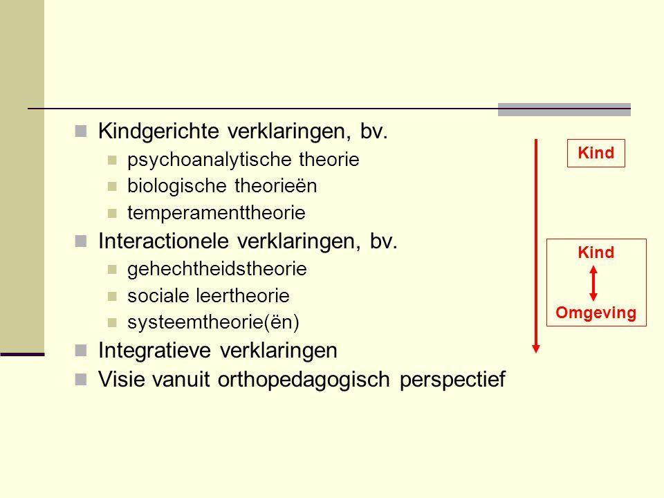 Biologische theorieën  Gedrag wordt gestuurd door interne biologische processen; bij foute sturing kunnen GP ontstaan  Gedrag is een epifenomeen van deze processen  Verschillende invalshoeken  neuroanatomie  dysfuncties op het niveau van de structuur van de hersenen  neurochemie  dysfuncties in de chemische processen in de hersenen  genetica  gedrag heeft een erfelijk bepaalde component ( behavior genetics )  sommige GP komen meer voor in bepaalde families  voorbeeld: ADHD