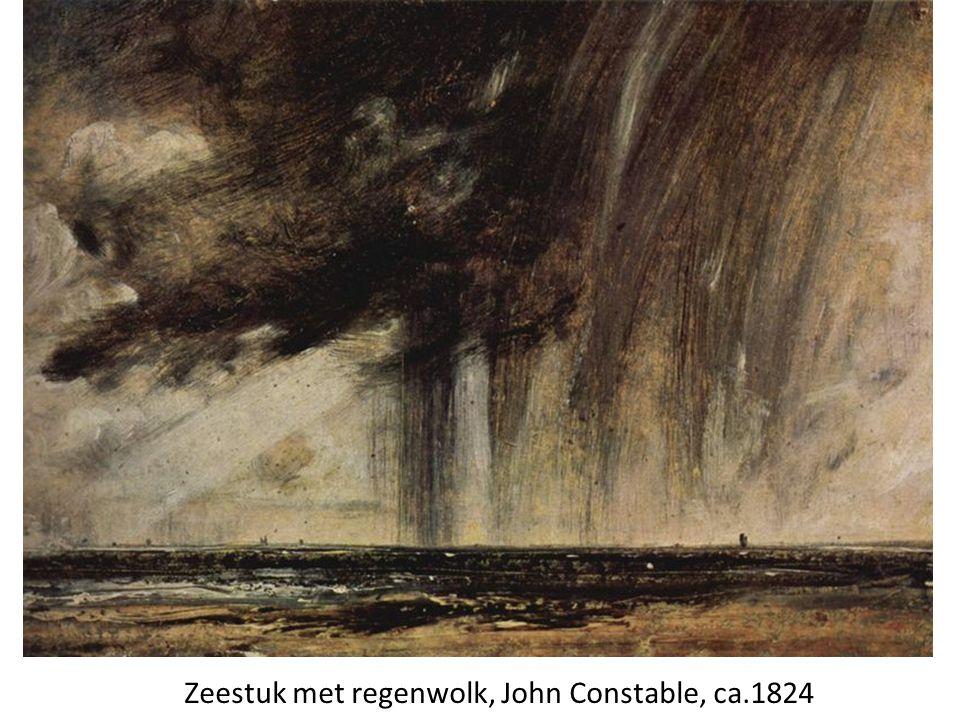 Zeestuk met regenwolk, John Constable, ca.1824
