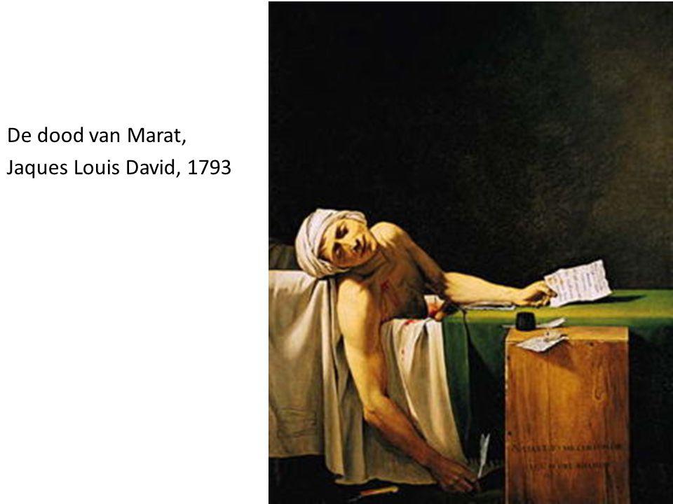 De dood van Marat, Jaques Louis David, 1793