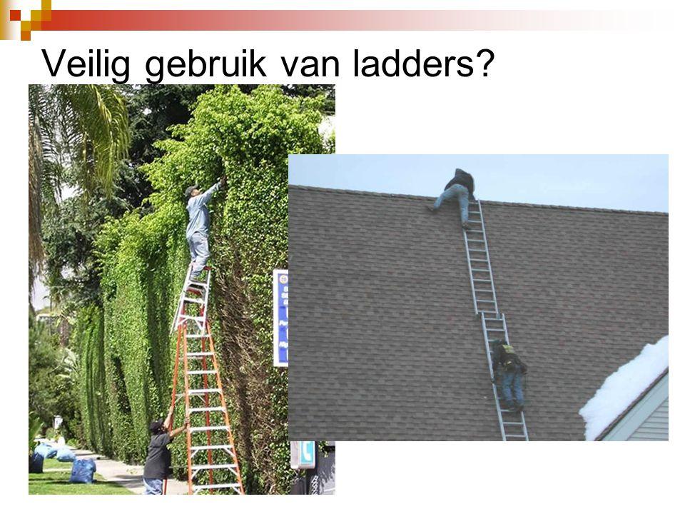 Veilig gebruik van ladders?