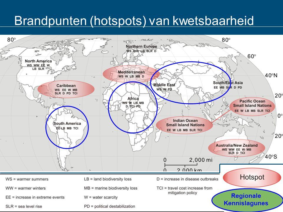 Brandpunten (hotspots) van kwetsbaarheid Regionale Kennislagunes