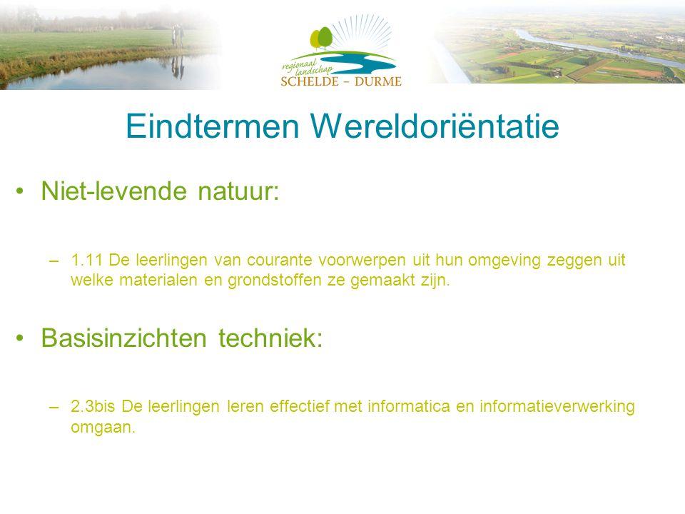 Eindtermen Wereldoriëntatie •Milieueducatie: –1.17 De leerlingen kunnen bij de verzorging van dieren en planten uit hun omgeving zelfstandig basishandelingen uitvoeren.