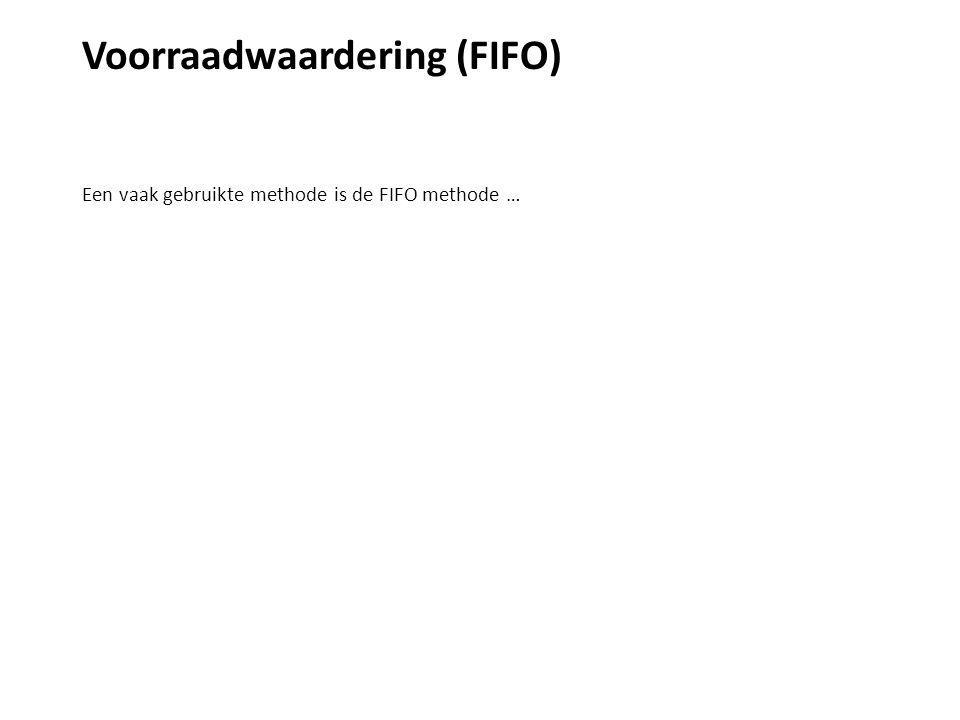 Voorraadwaardering (FIFO) Onderstaande 2 voorbeelden zullen het verduidelijken.
