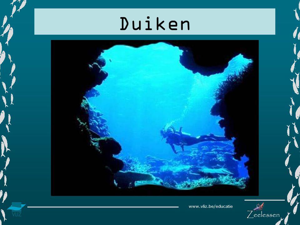 www.vliz.be/educatie Inleiding Als je met een duikersuitrusting in diep water duikt, kom je terecht in een wereld waar de omstandigheden heel anders zijn dan op het land.
