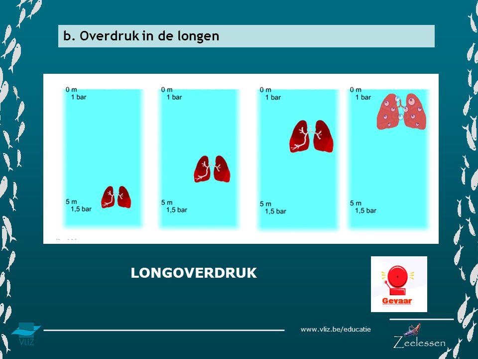 www.vliz.be/educatie b. Overdruk in de longen LONGOVERDRUK
