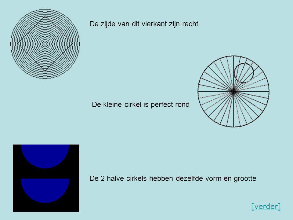 De zijde van dit vierkant zijn recht De kleine cirkel is perfect rond De 2 halve cirkels hebben dezelfde vorm en grootte [verder]