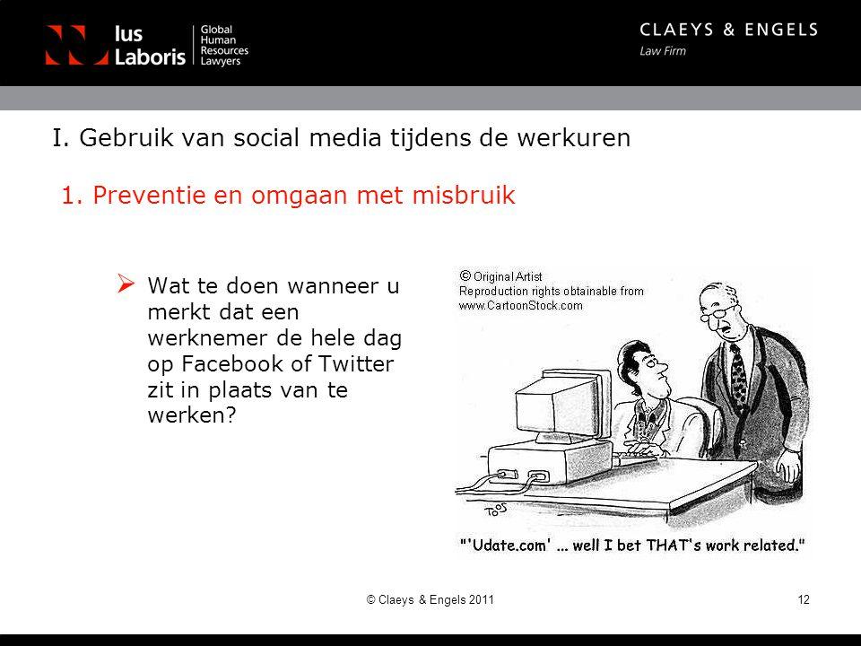 I.Gebruik van social media tijdens de werkuren 1.