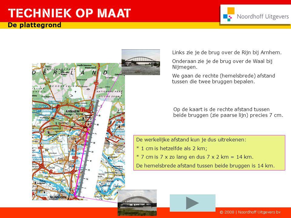 Een stukje van de kaart van Nederland. In het midden Arnhem en onderaan Nijmegen. In het boek, waar deze kaart in zit, vind je deze tekst. Achter 114