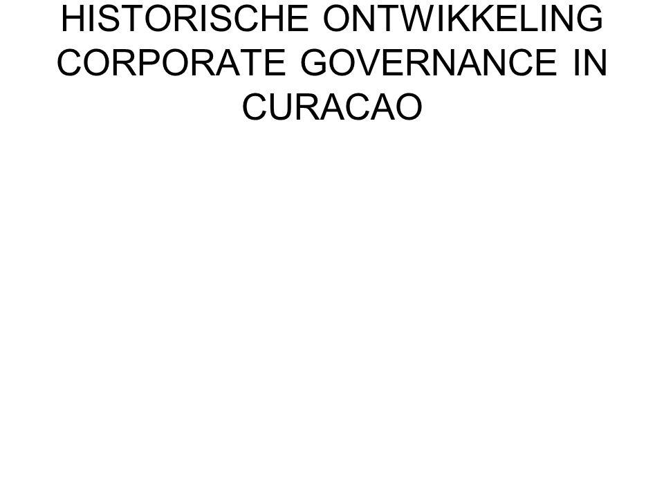 HISTORISCHE ONTWIKKELING CORPORATE GOVERNANCE IN CURACAO