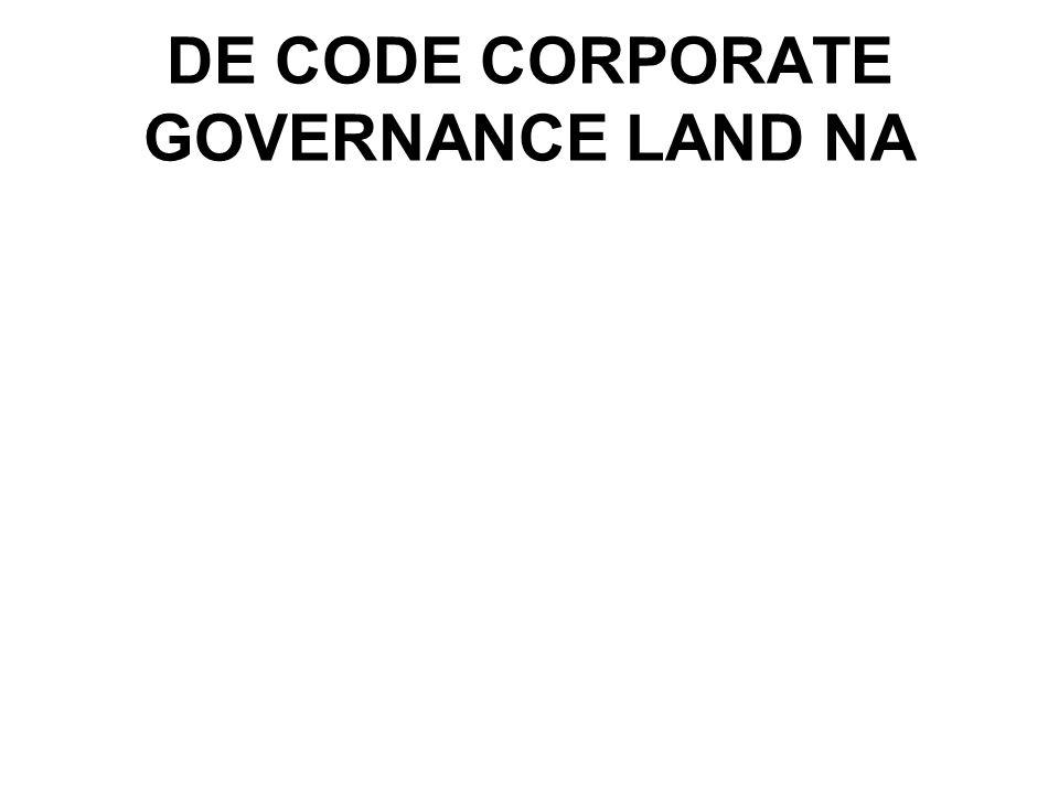 Uitgangspunten -Geldt voor alle ONV's/OST's zoals hierboven beschreven -Bevat principes en concrete bepalingen inzake good corp gov -Is een aanvulling op de algemene beginselen corp gov -Comply or explain-methode.
