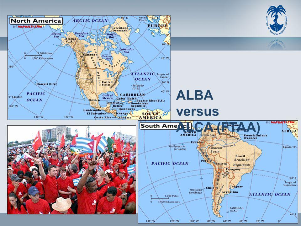 ALBA versus ALCA (FTAA)
