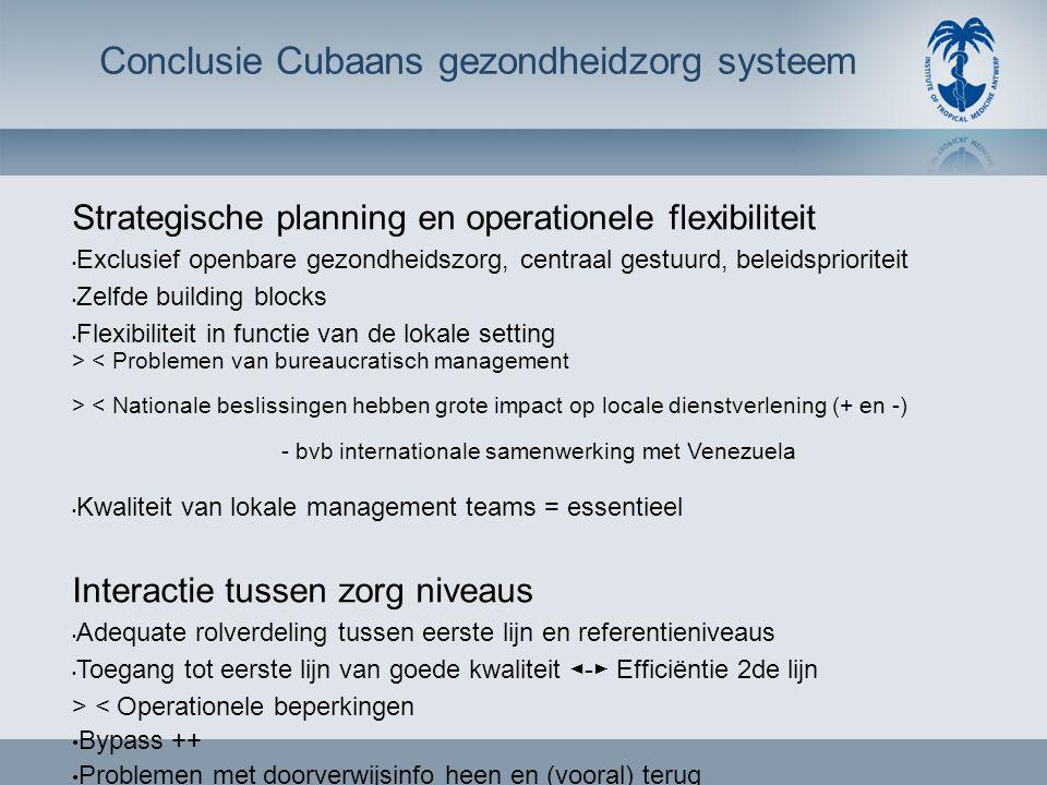 Strategische planning en operationele flexibiliteit • Exclusief openbare gezondheidszorg, centraal gestuurd, beleidsprioriteit • Zelfde building block