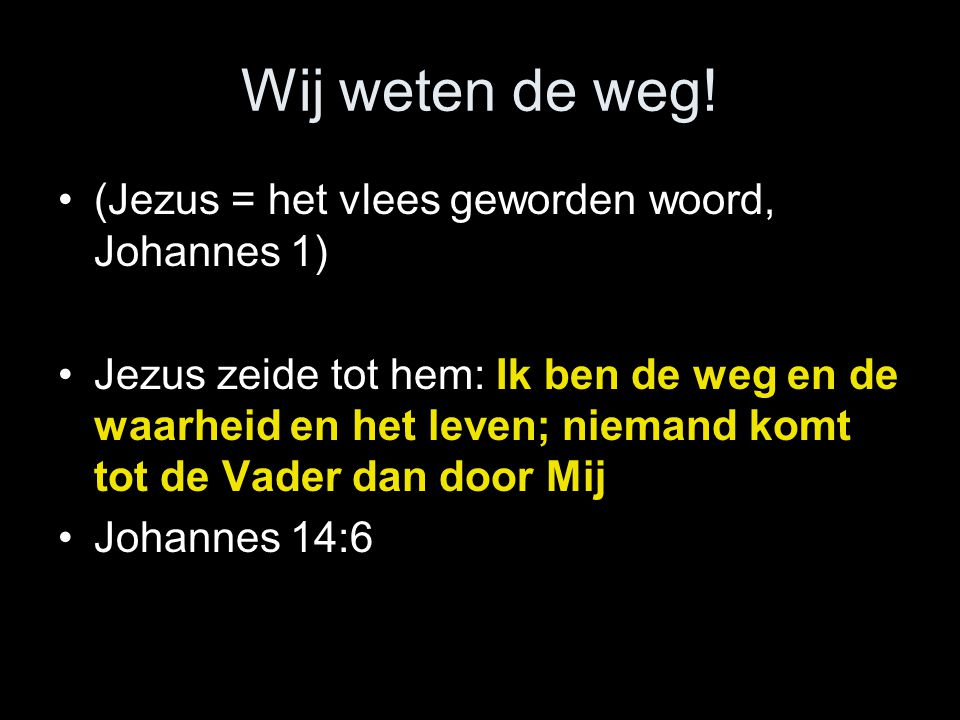 Jezus wil niet dat wij een verkeerde boodschap gaan aanvaarden •Laat ons oog daarbij (alleen) gericht zijn op Jezus, de leidsman en voleinder des geloofs, die, om de vreugde, welke vóór Hem lag, het kruis op Zich genomen heeft, de schande niet achtende, en gezeten is ter rechterzijde van de troon Gods.