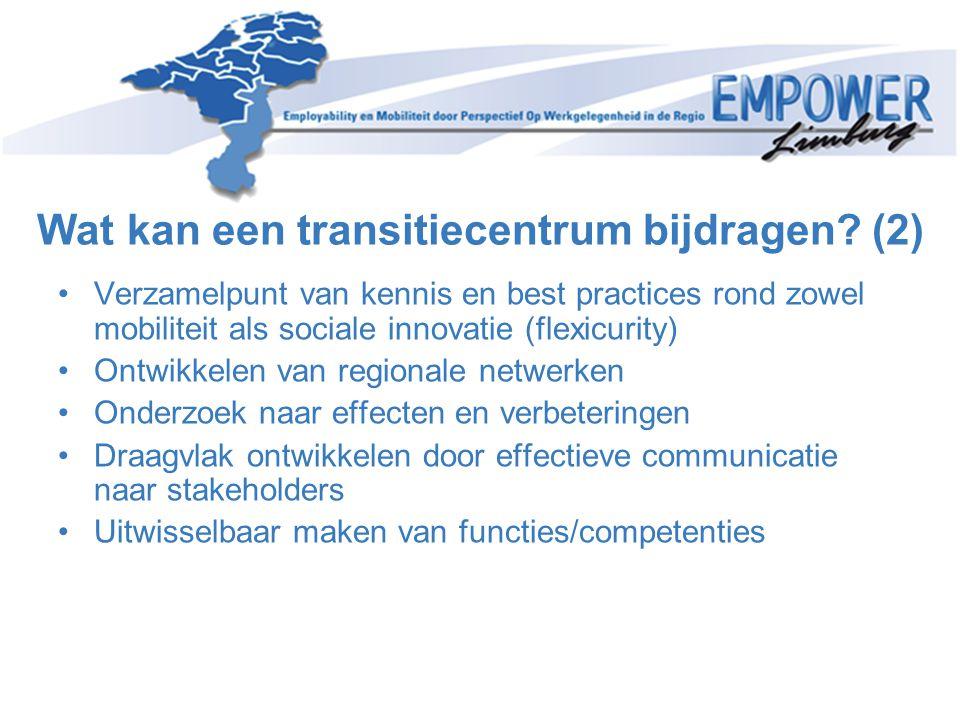 •Verzamelpunt van kennis en best practices rond zowel mobiliteit als sociale innovatie (flexicurity) •Ontwikkelen van regionale netwerken •Onderzoek n