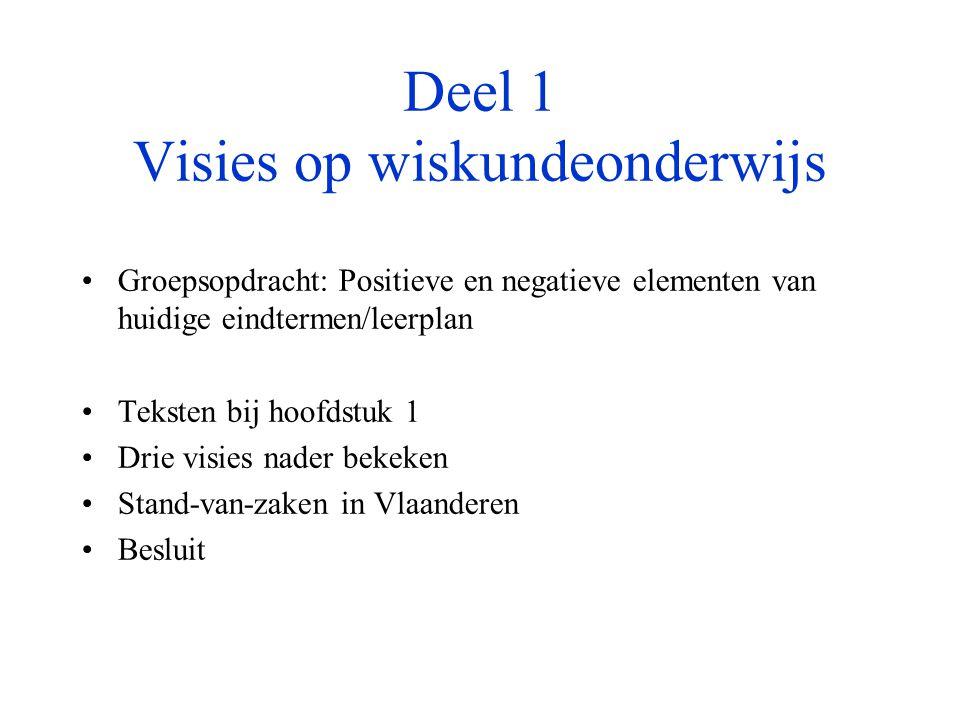4.3 Poging tot positionering van het Vlaams wiskundeonderwijs MechanismeStructuralisme Realisme