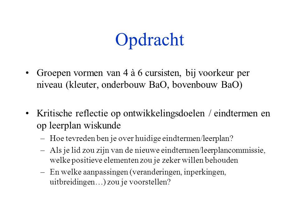 1.Tekst bij Deel 1 •Verschaffel, L. (1995). Visies op wiskunde-onderwijs.