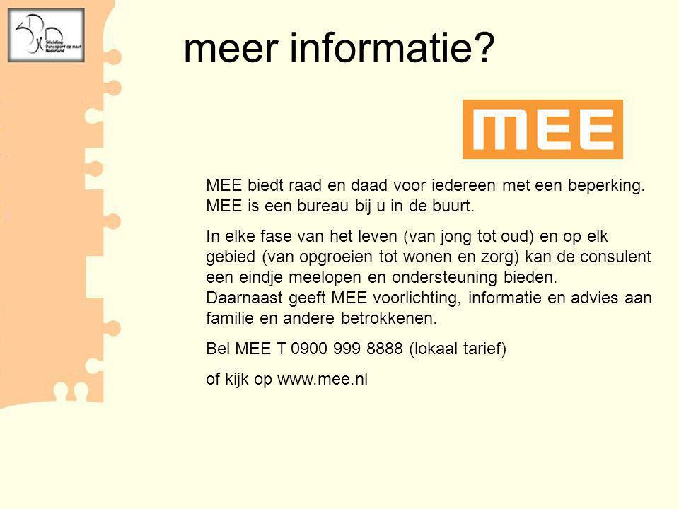 Verantwoorlijk voor presentatie: Emmely Lefèvre Werkzaam als consulente bij MEE IJsseloevers, locatie Zwolle Coördinator stichting Trebokama Meppel (danssport op maat) Contact: e.lefevre@meeijsseloevers.nl Contact