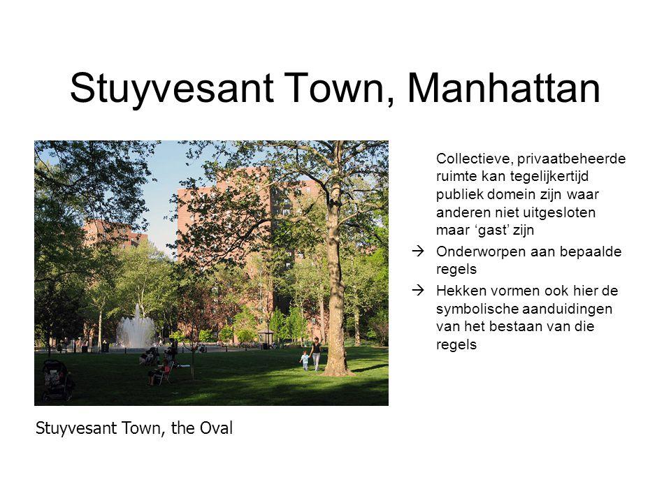 Stuyvesant Town, Manhattan Collectieve, privaatbeheerde ruimte kan tegelijkertijd publiek domein zijn waar anderen niet uitgesloten maar 'gast' zijn 