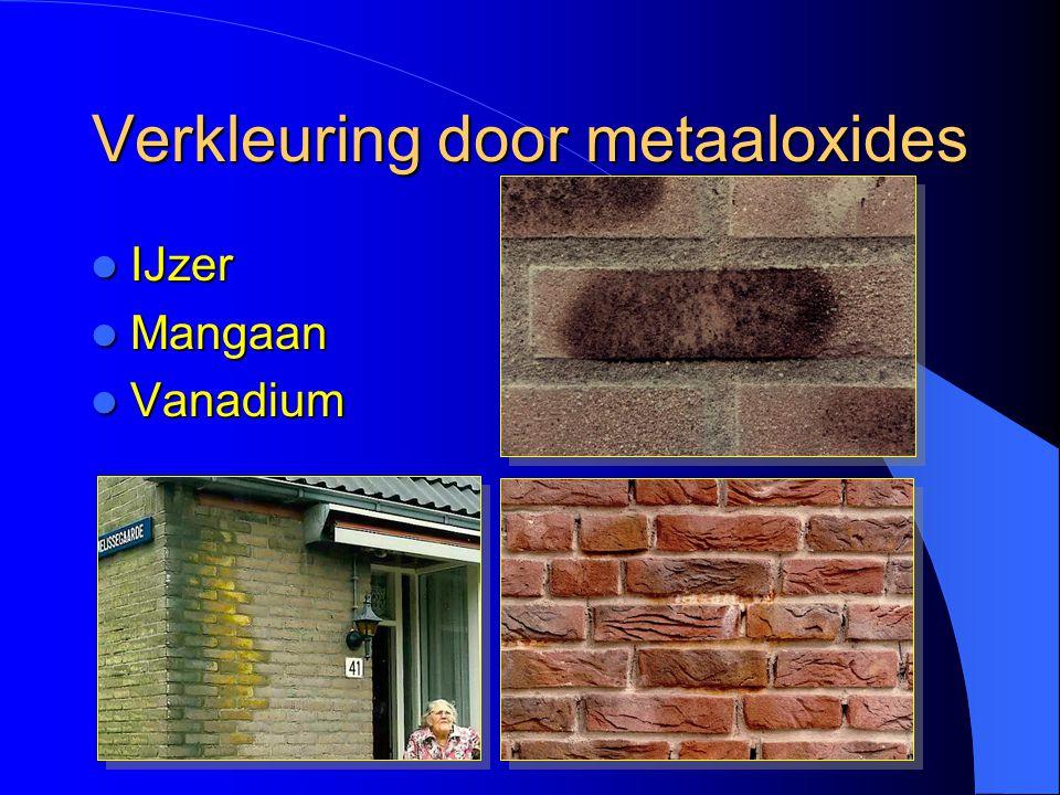 Verkleuring door metaaloxides  IJzer  Mangaan  Vanadium