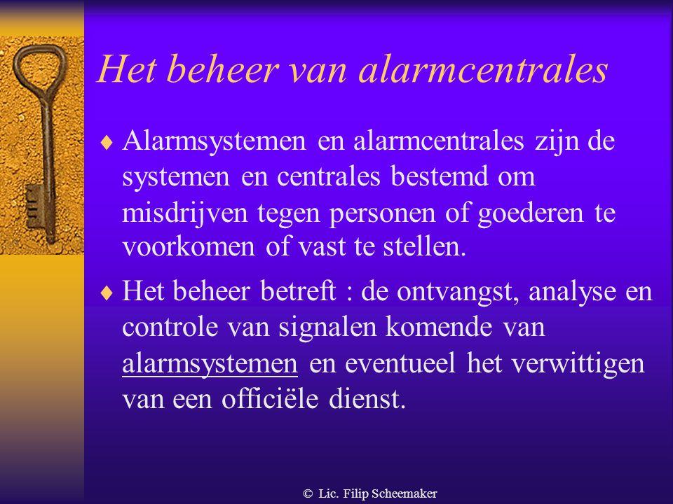 © Lic. Filip Scheemaker Toezicht op en bescherming bij het vervoer van waarden  Er is sprake van beveiligd waardevervoer in de zin van de wet van 10