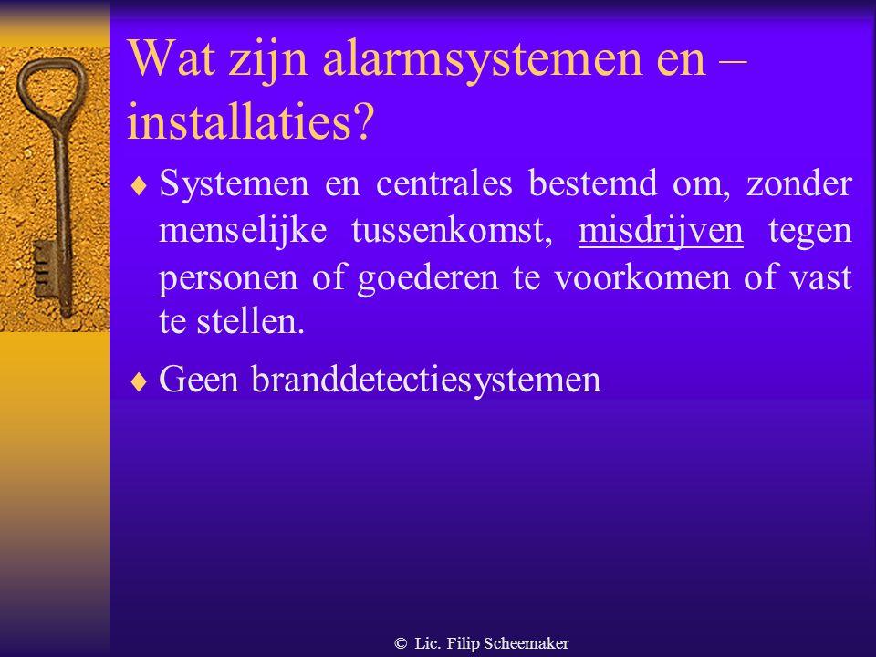 © Lic. Filip Scheemaker Ontleding van de definitie  Natuurlijk of rechtspersoon  Leveren van diensten aan derden  Diensten van : –conceptie –instal
