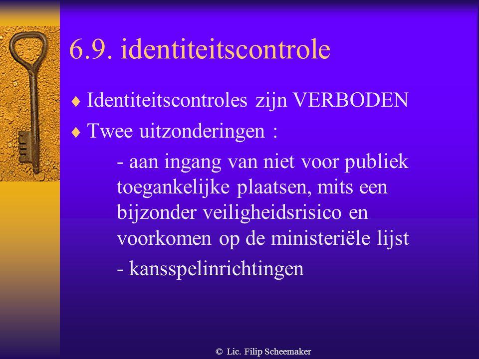 © Lic. Filip Scheemaker 6.8. Wettige verdediging  Aanvalsdaad versus afweringsdaad  Aanvalsdaad : - onrechtmatig - nakend en onafwendbaar - een aans