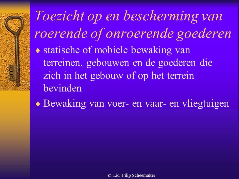© Lic.Filip Scheemaker 9.1.3. Controle door de overheid  Algemeen - Wie.