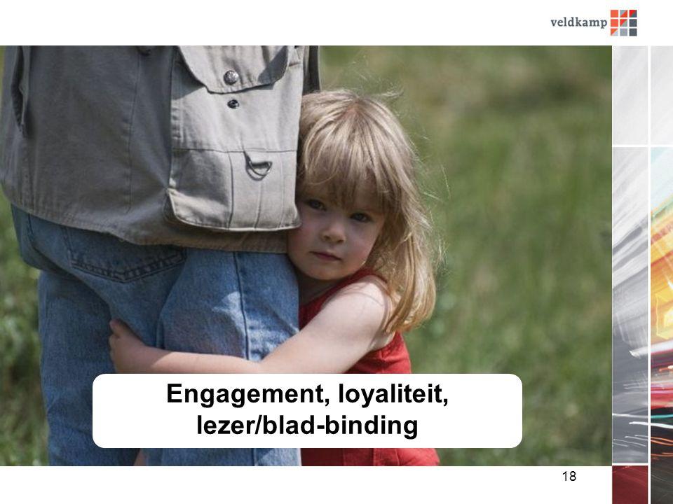 18 Engagement, loyaliteit, lezer/blad-binding
